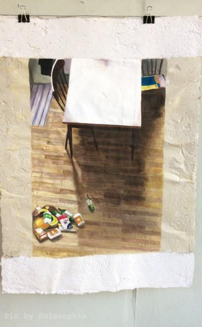 Gemälde von Serge Wittmann: Atelierszene
